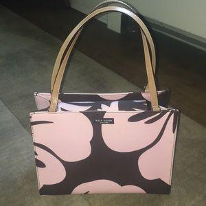 kate spade Bags - Kate Spade New York Pink and Brown Floral Tote